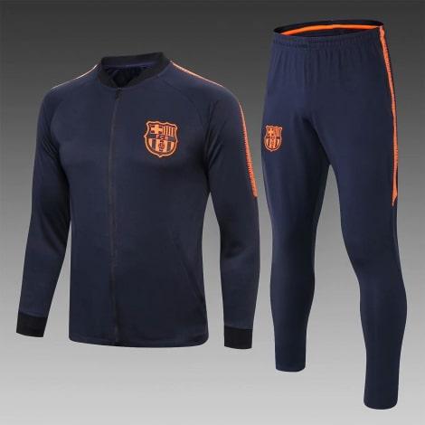 Детский черно-оранжевый костюм Барселоны 19-20