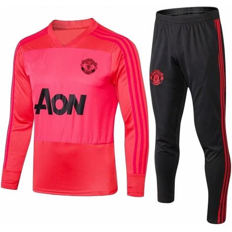 Взрослый черно-розовый костюм Ман Юнайтед 2019-2020