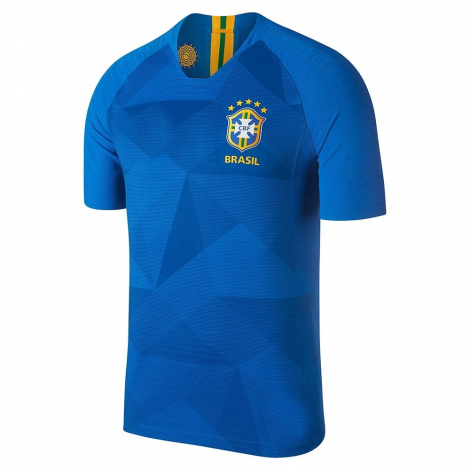 Синяя гостевая футболка сборной Бразилии на чемпионат мира 2018