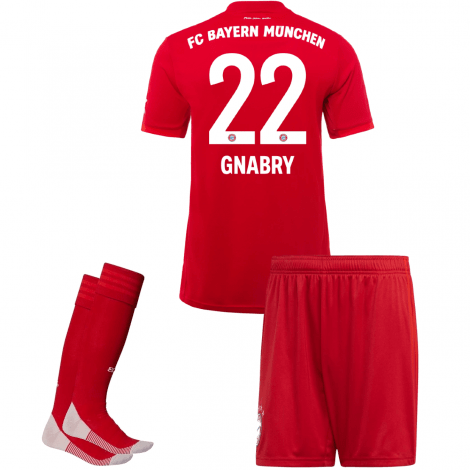 Детская домашняя форма Баварии Серж Гнабри 2019-2020 номер 22