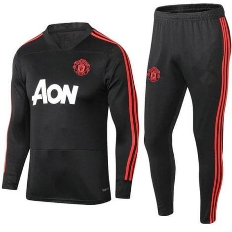 Тренировочный черно-красный костюм Ман Юнайтед 2019-2020