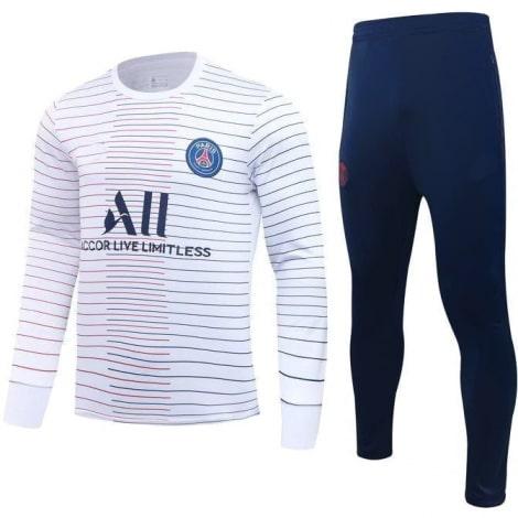 Бело синий тренировочный костюм ПСЖ 2020-2021