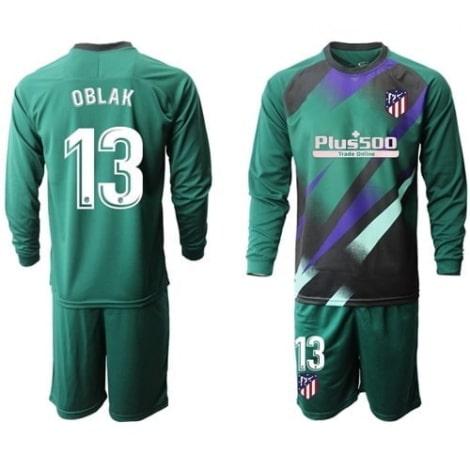 Детская зеленая форма Атлетико с длинными рукавами 2019-2020