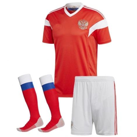 Взрослый комплект футбольной формы сборной России по футболу на чемпионат мира 2018 года футболка, шорты и гетры
