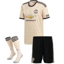 Комплект детской гостевой формы Манчестер Юнайтед 2019-2020 футболка шорты и гетры