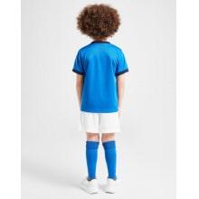 Детская домашняя футбольная форма Италии на ЕВРО 2020-21 футболка шорты и гетры сзади