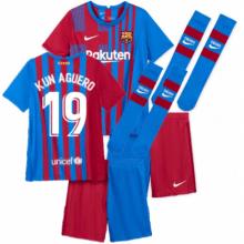 Детская домашняя футбольная форма Кун Агуэро 2021-2022