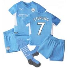 Детская домашняя футбольная форма Рахим Стерлинг 21-22