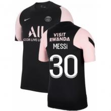 Черно-розовая футболка MESSI ПСЖ 2021-2022