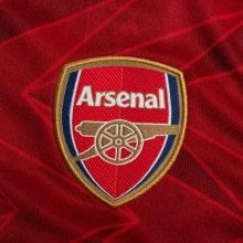 Домашняя форма Арсенала 2020-2021 c длинными рукавами футболка герб клуба
