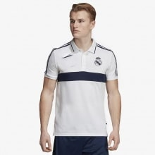 Футболка поло Реал Мадрид бело-синяя 2019-2020