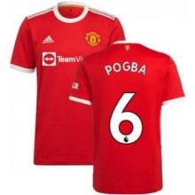 Домашняя игровая футболка Ман Юнайтед 2021-2022 Погба