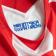 Домашняя футболка Хорватии Лука Модрич ЕВРО 2020-21 воротник