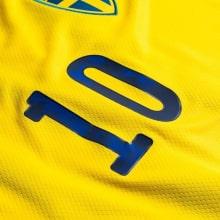 Детская домашняя футбольная форма Швеции 2020 ФОРСБЕРГ номер 10