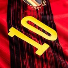 Домашняя футболка Бельгии на ЕВРО 2020-21 Эден Азар номер на груди