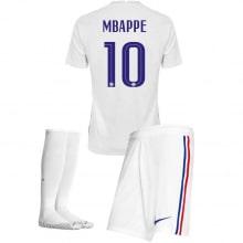 Детская гостевая форма Франции Мбаппе на ЕВРО 2020-21