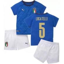 Детская домашняя форма Италии Локателли ЕВРО 2020-21
