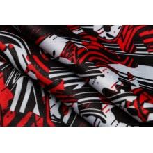 Красно-черный спортивный костюм Милан 2021-2022 ткань