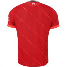 Комплект взрослой домашней формы Ливерпуля 2021-2022 футболка сзади