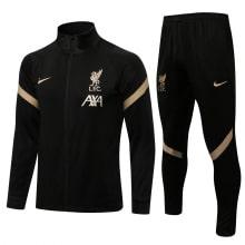 Черно-золотой спортивный костюм Ливерпуля 2021-2022