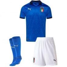 Детская домашняя футбольная форма Италии на ЕВРО 2020-21