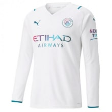 Гостевая футболка Ман Сити 2021-2022 с длинными рукавами