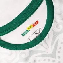 Белая домашняя футболка сборной Сенегала на чемпионат мира 2018 воротник