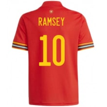 Домашняя футболка Уэльса Рэмси на ЕВРО 2020-21