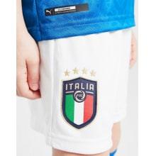 Детская домашняя футбольная форма Италии на ЕВРО 2020-21 шорты герб сборной