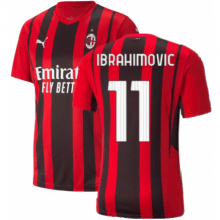 Домашняя футболка Милана 2021-2022 Златан Ибрагимович