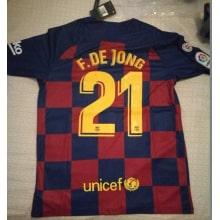 Домашняя футболка Барселоны 2019-2020 Фрэнки Де Йонг номер 21