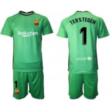 Вратарская зеленая футбольная форма Тер Штеген 2020-2021