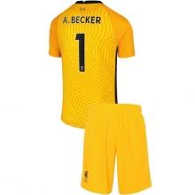 Вратарская желтая футбольная форма Алисон Бекер 2020-2021