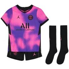 Детская четвертая футбольная форма Неймар 2020-2021 футболка шорты и гетры спереди