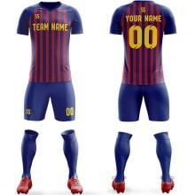 Футбольная форма сени бордового цвета полосатая на заказ