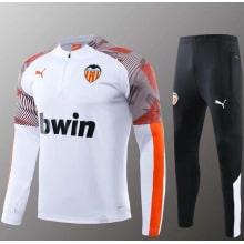 Бело черный тренировочный костюм Валенсия 2020-2021