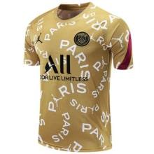 Золотая пре матчевая футболка ПСЖ 20-21