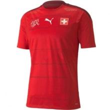Домашняя футболка сборной Швейцарии на ЕВРО 20-21