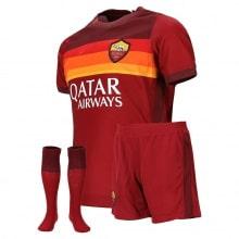 Комплект детской домашней формы Ромы 2020-2021 футболка шорыт и гетры