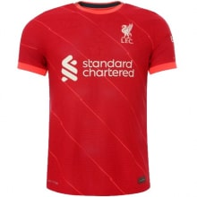 Домашняя футболка Ливерпуля 2021-2022 Мохаммед Салах спереди