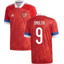 Домашняя футболка России Смолов ЕВРО 2020-2021
