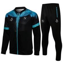 Черно-голубой спортинвый костюм Наполи 2021-2022