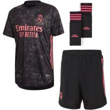 Детская третья футбольная форма Реал Мадрид 2020-2021 футболка шорыт и гетры