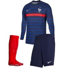 Домашняя форма Франции ЕВРО 20-21 длинные рукава