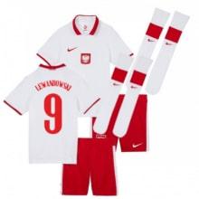 Детская домашняя форма Польши Левандовски ЕВРО 20-21