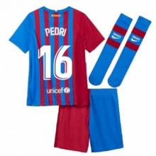 Детская домашняя футбольная форма Педри 2021-2022