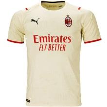 Гостевая аутентичная футболка Милана 2021-2022