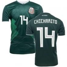 Домашняя футболка Мексики на ЧМ 2018 Чичарито номер 14