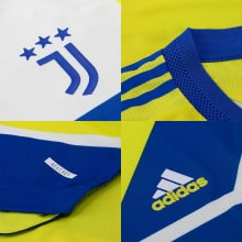 Комплект детской третьей формы Ювентуса 2021-2022 логотипы