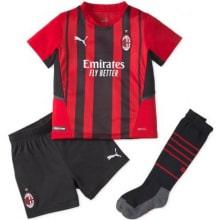 Детская домашняя футбольная форма Милан 2021-2022
